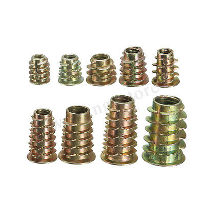 M4 M5 M6 M8 M10 Type D & Flange Hex Drive Screw In Threaded Insert Nut For Wood