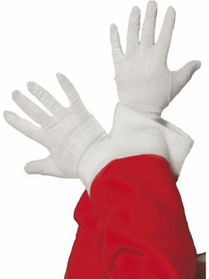 Santa White gloves Fancy Dress Costume Outfit Accessory Short Christmas Gloves