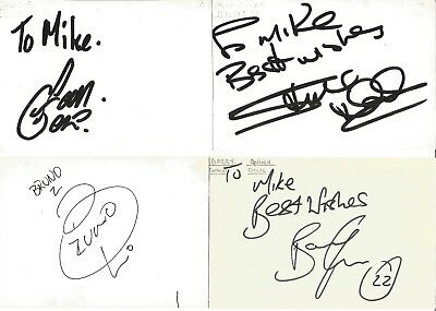 Football Autographs Barry Quinn Bruno Everton Quadros Steve Daley Ian Gore Z2923