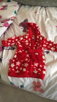 Girls Dressing Gown Size 12-18 Months