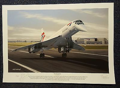 Concorde Pair of Matched Signed Limited Edition Prints Bannister and Lidiard
