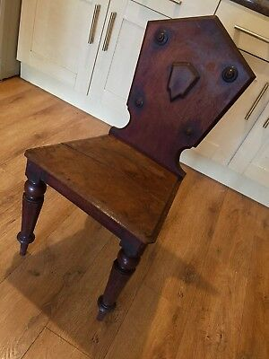 Antique Victorian Hall Chair Collectable Hallway Chair
