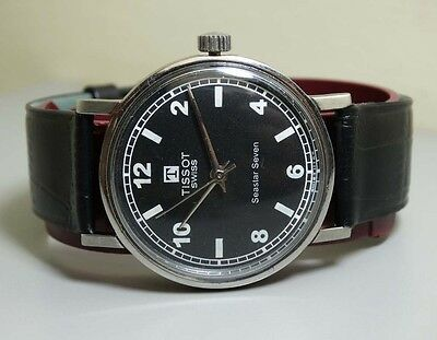 Vintage Tissot Seastar Winding Swiss Mens Wrist Watch 7031261 Old e293 Antique