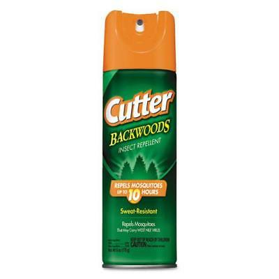 Cutter Backwoods Insect Repellent Spray, 6 oz Aerosol, 12/CT