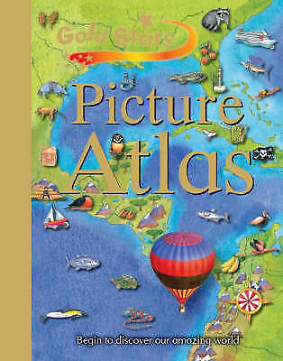 """""""AS NEW"""" Gold Stars: Children's Picture Atlas, Gold Stars, Book"""