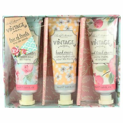 Body Collection Trio Of Treats Hand Cream & Nail Care Gift Set Floral Scented