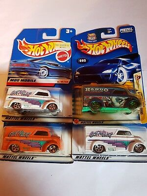 Lot of 4 Hot Wheels Dairy Delivery 2 1st edition , 1 Hando, 1 Custom, Very Nice