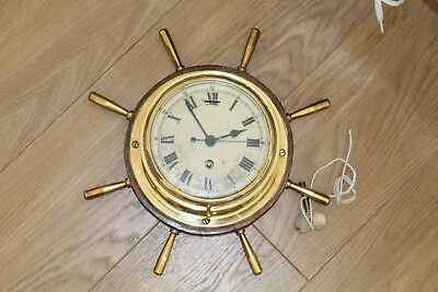 Vintage Marine Ships Clock Good Condition - Key Included