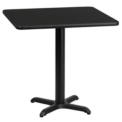 24'' Square Black Laminate Table Top with 22'' x 22'' Table Height Base