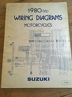 genuine (oe) suzuki wiring diagrams manual 1980 sr-0021 gs gsx dr ts