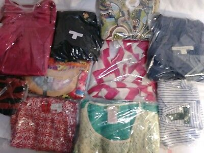 Lot Of 10 Pre-Owned Womens Tops Dresses Size Small S Anthropology Lauren misc