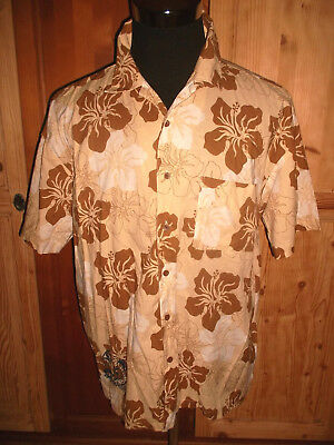 vintage LE FROG Hawaii Hemd oldschool hawai shirt surfer t-shirt 90s surf XL