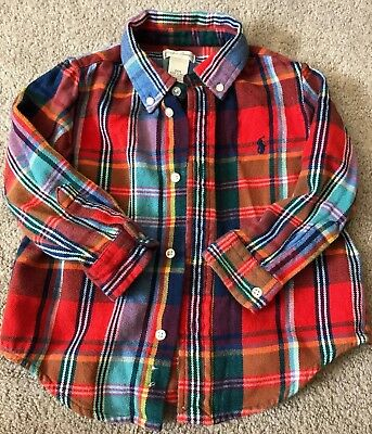 Polo Ralph Lauren Boys 24mo Holiday Flannel Plaid Shirt