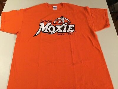 "Drink MOXIE Since 1884 (XL) T-Shirt ""IT'S WICKED GOOD!"" Used"