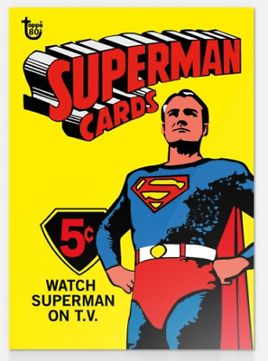 2018 Topps 80th Anniversary Wrapper Art #16 Superman 1966 TV SHOW Card