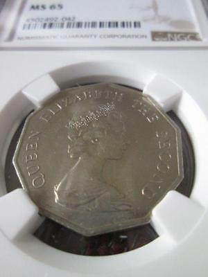 Hong Kong 5 Dollars 1976 NGC MS 65