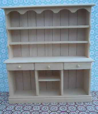 Dolls House Hand Made Miniature Furniture In 1/12 Scale Large Kitchen Dresser