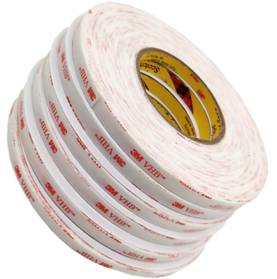 CLEAR 6mm Wide x 1mm Thick ~ 3M Double Sided VHB Acrylic Foam STRONG Tape ~ 4910