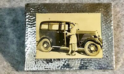 Small Arts & Crafts Silver Photograph Frame 3.1/4 Inches Across Bimingham 1901