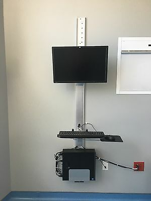 Wall mount computer desk with CPU