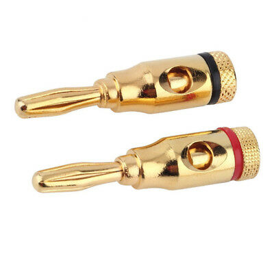 24/48/72PCS Gold 24K Banana Plugs Audio Jack Speaker Wire Cable Screw Connector
