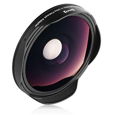 Opteka Platinum Series 0.3X HD Fisheye Lens for 25, 30, 30.5mm & 37mm Camcorders