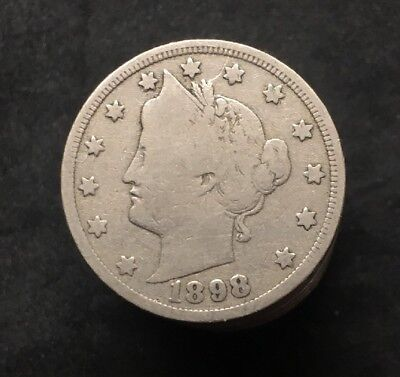 (1) 1898 Liberty V Nickel Good To Very Good