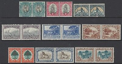 SOUTH AFRICA collection early fresh mint stamps to 2/6, bilingual PAIRS, high CV