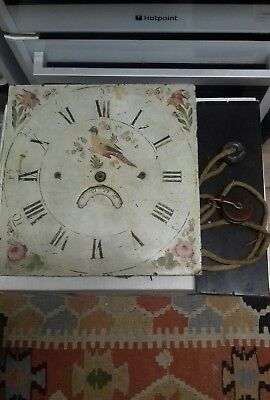 Antique longcase grandfather clock Face & Movement