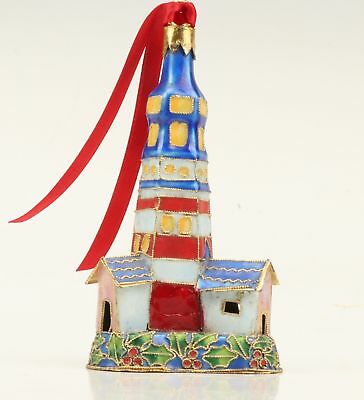 Cloisonne Pendant Statue Hand-Made Lighthouse Collection Old Headwork