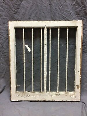 Antique Horse Stall Window With Bar Guard 24X27 Old Vintage 345-18C