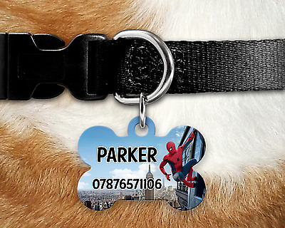 Personalised Pet Tag - ID Tag - Dog Tag - Bone Tag - Spiderman Homecoming