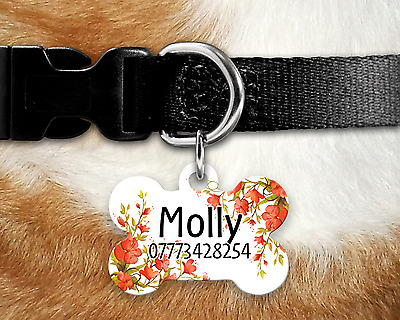 Personalised Dog Tag - Dog Identity Tag - Pet Tag - Dog Name Tag - Poppy Style