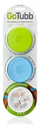 (86 cc, Clear/Green/Blue) - humangear GoTubb 3 Pack Travel Container -