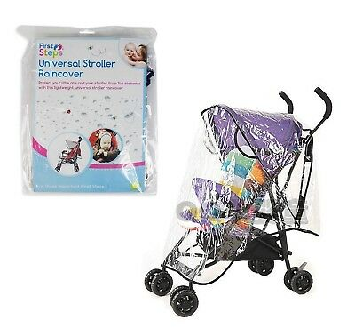 Universal Pushchair Buggy Stroller Rain Cover CLEAR Baby PRAM RAINCOVER UK