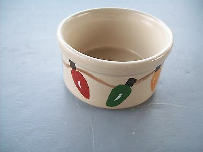 Old ROSEVILLE RANSBOTTOM Pottery R.R.P.CO. SMALL CHRISTMAS CAT ANIMAL BOWL
