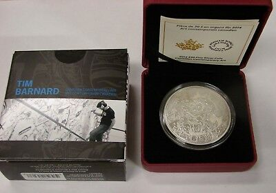 Canada 2014 $30 2 oz Fine Silver Contemporary Art Coin: Tim Barnard