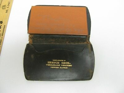 Bretch Brothers Wholesale Grocers Newton Kansas Leather Case & Note Book Ad