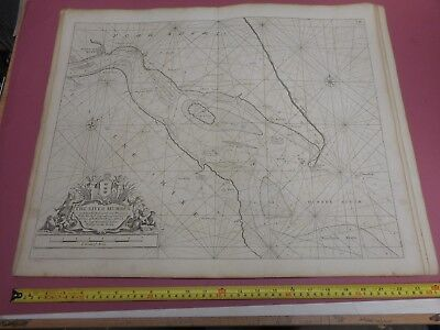 100% Original Sea Chart Humber Hull Grimsby Spurn  Engr By Collins C1760 Vgc