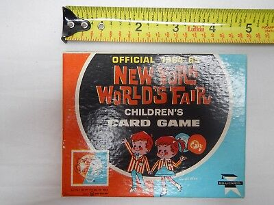 Official 1964/65 New York World's Fair Children's Card Game
