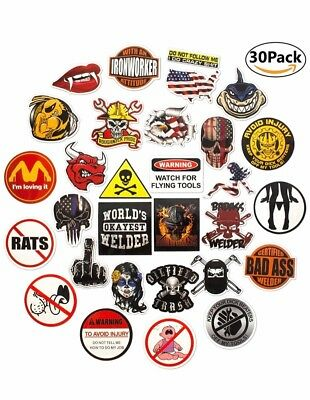 Hard hat stickers |Big 30-Pack |Badass American patriotic accessories