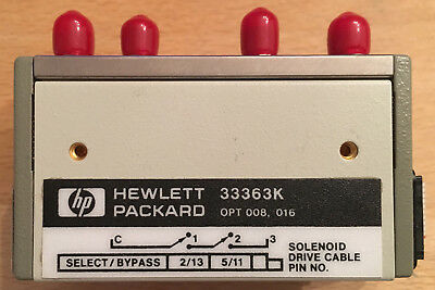 HP/Agilent 33363K SP3T Multiport Switch Koaxswitch