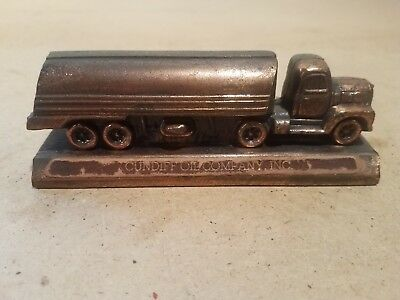 Cast Desk Paperweight ~ Cundiff Oil Company ~ Advertising