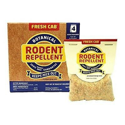Fresh Cab Botanical Rodent Repellent 4 Scent Pouches - EPA Registered, Keeps Mic