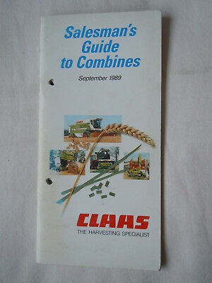 @Vintage Claas Salesman's Guide to Combines September 1989@