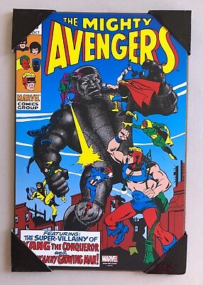 "MARVEL The Mighty Avengers #69 KANG Wooden Wall Art 13"" x 19"" Silver Buffalo"