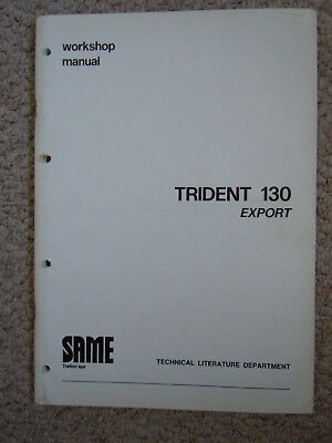 @Vintage Same Tractor Trident 130 Export Workshop Manual @