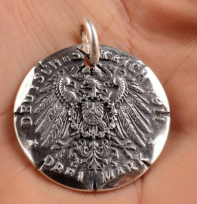 Christmas Gift 100% 925 Silver Precious Hand Eagle Tiger Statue Necklace Pendant
