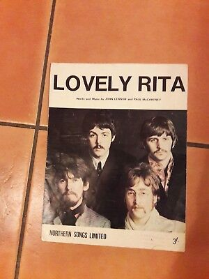 "BEATLES  ""LOVELY RITA "" sheet music"