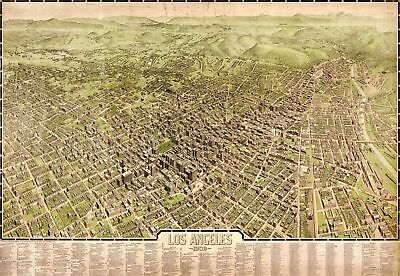 A4 Reprint of Old Maps Los Angeles 1909